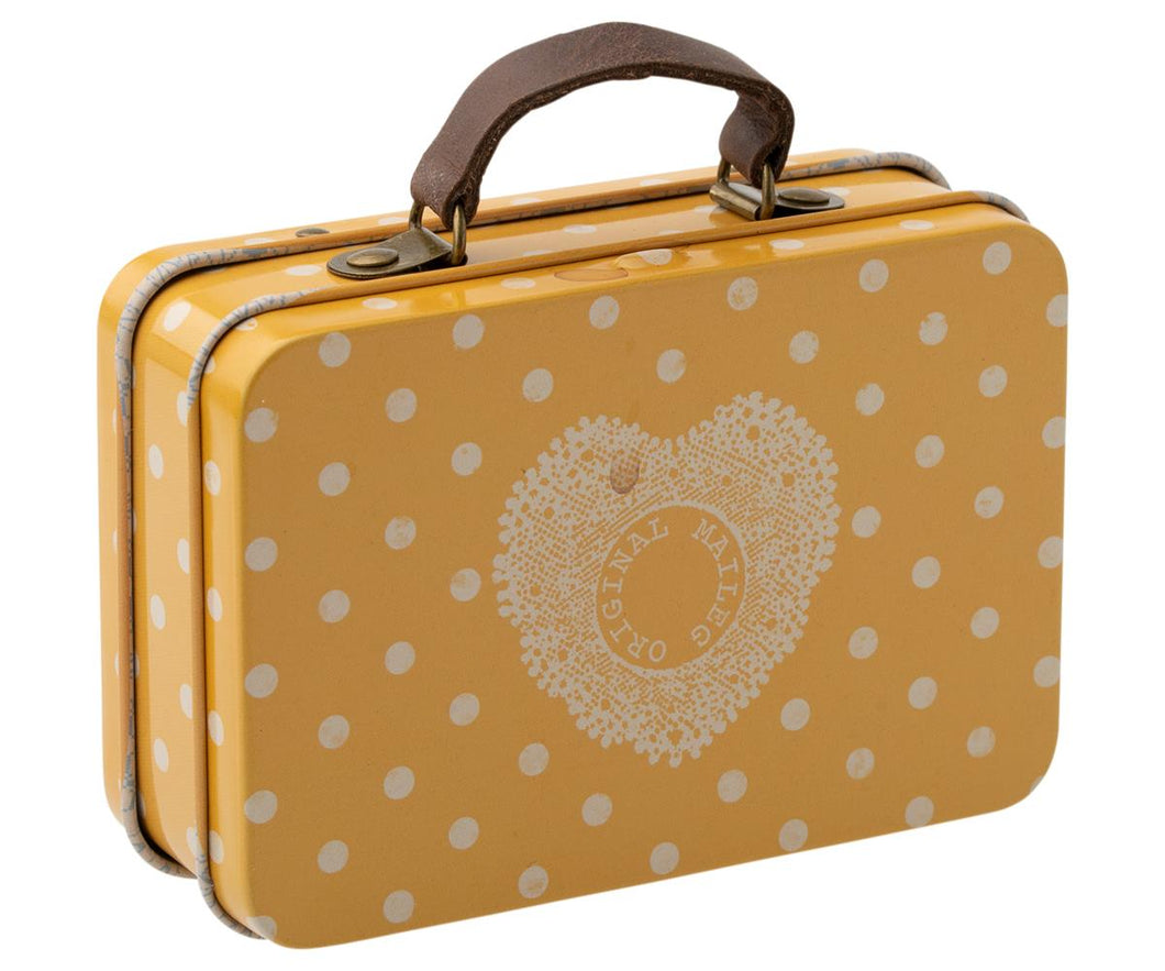 Maileg Metal Suitcase - yellow dot
