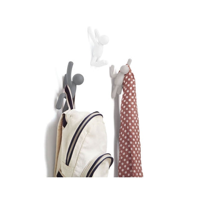 Buddy Wall Coat Hooks | Assorted Grey