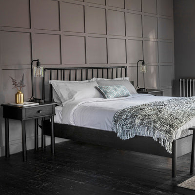 Canberra Timber Bed | Black