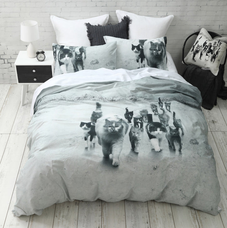 Cat Mob Quilt Cover Set