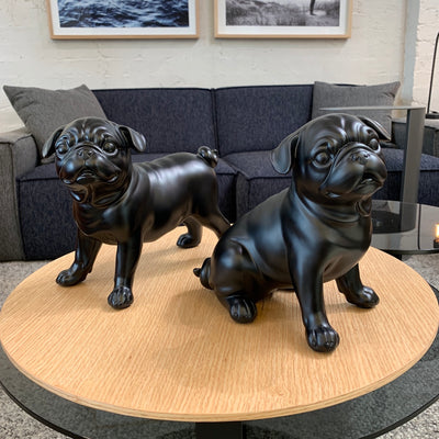 Charlie the Sitting Pug Sculpture