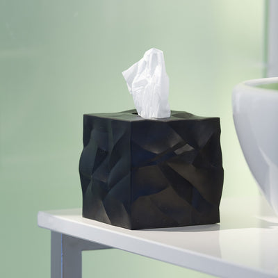 Wipy Cube Tissue Box Cover | Black