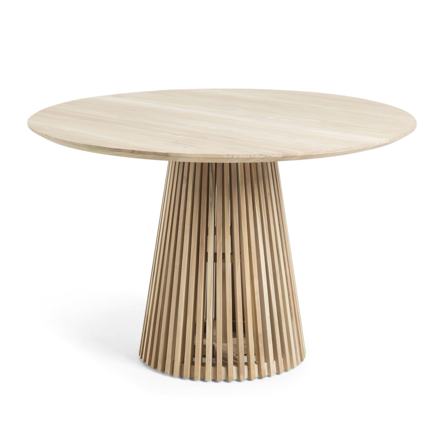 Finn Round Dining Table | Natural Teak
