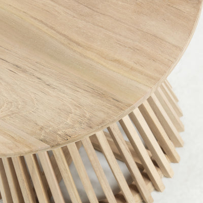 Finn Round Side Table | Natural Teak