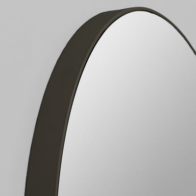 Flint Round Mirror | Black