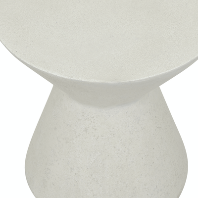 Granada Hourglass Patio Side Table | White Fleck