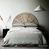 Herringbone Quilt Cover Set | Limestone