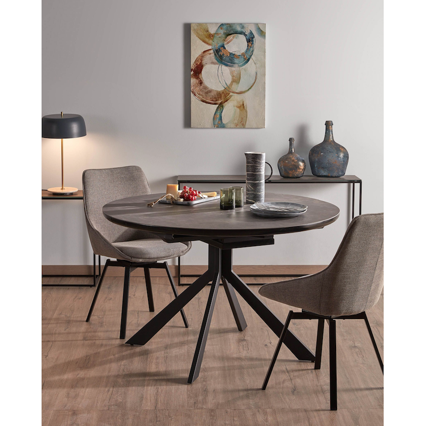 Hyde Round Extension Dining Table Clu Living