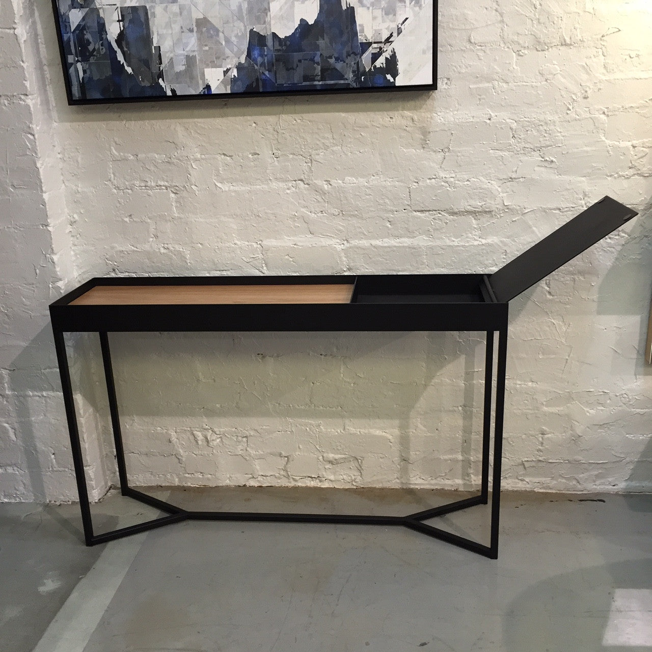 tray storage console table  clu - tray storage console table