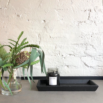 Isla Concrete Rectangular Tray