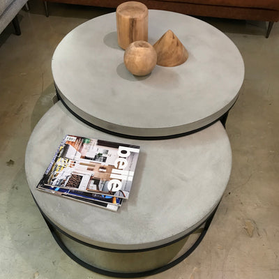 Jevan Concrete Nesting Coffee Table