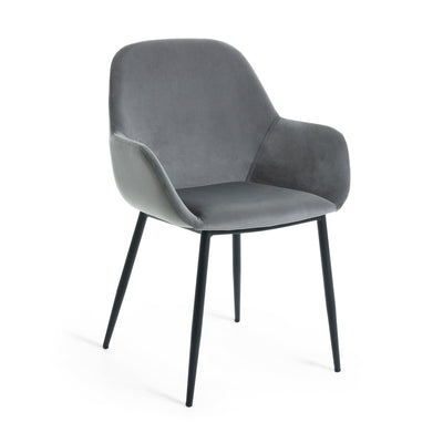 Kylie Dining Chair | Pewter Grey Velvet
