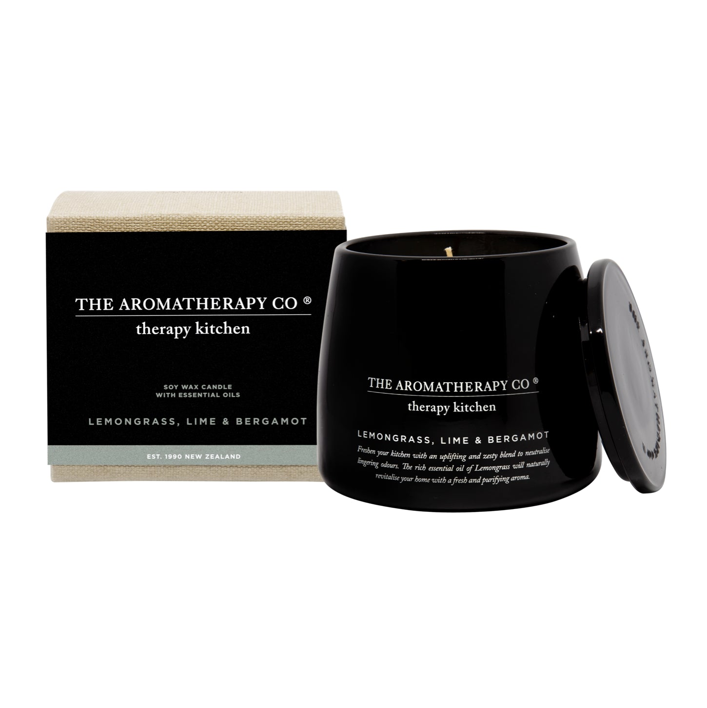 Lemongrass, Lime and Bergamot Soy Candle
