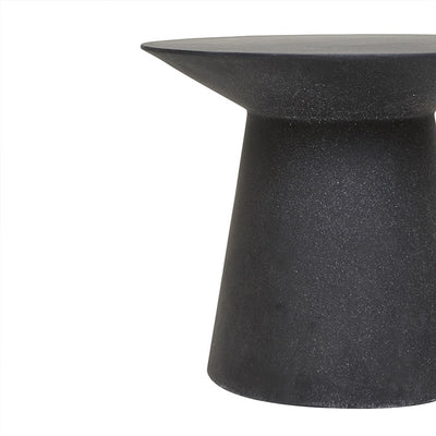 Livorno Round Concrete Patio Side Table | Black