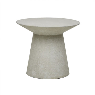 Livorno Round Concrete Patio Side Table | Grey