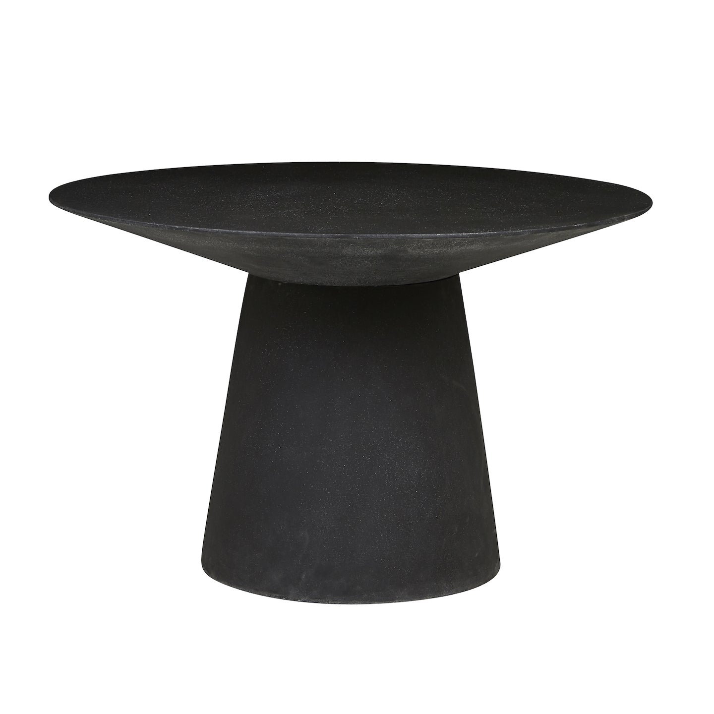 Livorno Round Concrete Patio Dining Table | Black