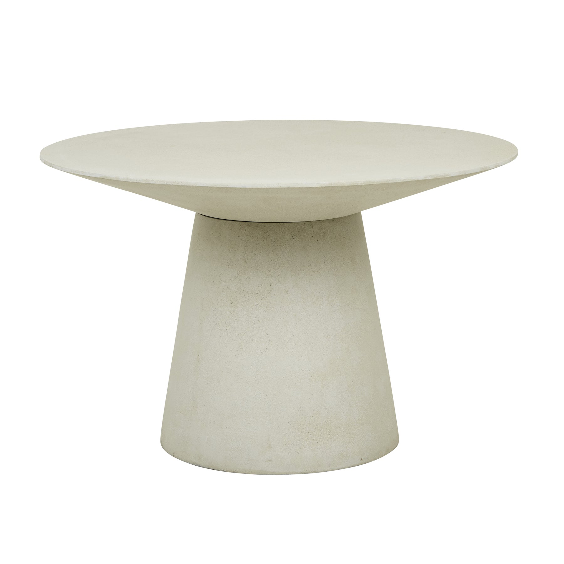 Livorno Round Concrete Patio Dining Table | Grey