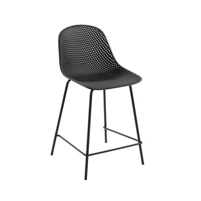 Lonsdale Bench Height Patio Barstool | Charcoal