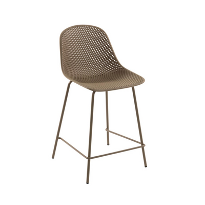 Lonsdale Bench Height Patio Barstool | Mocha