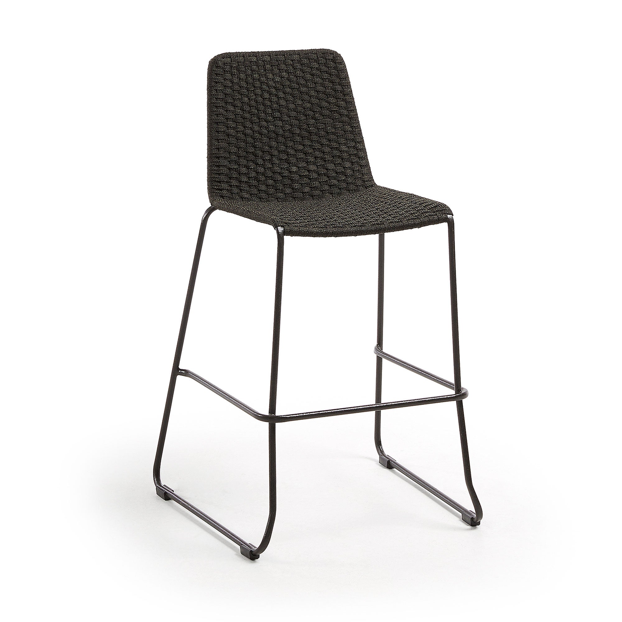 Meggie Patio Bar Height Barstool | Charcoal