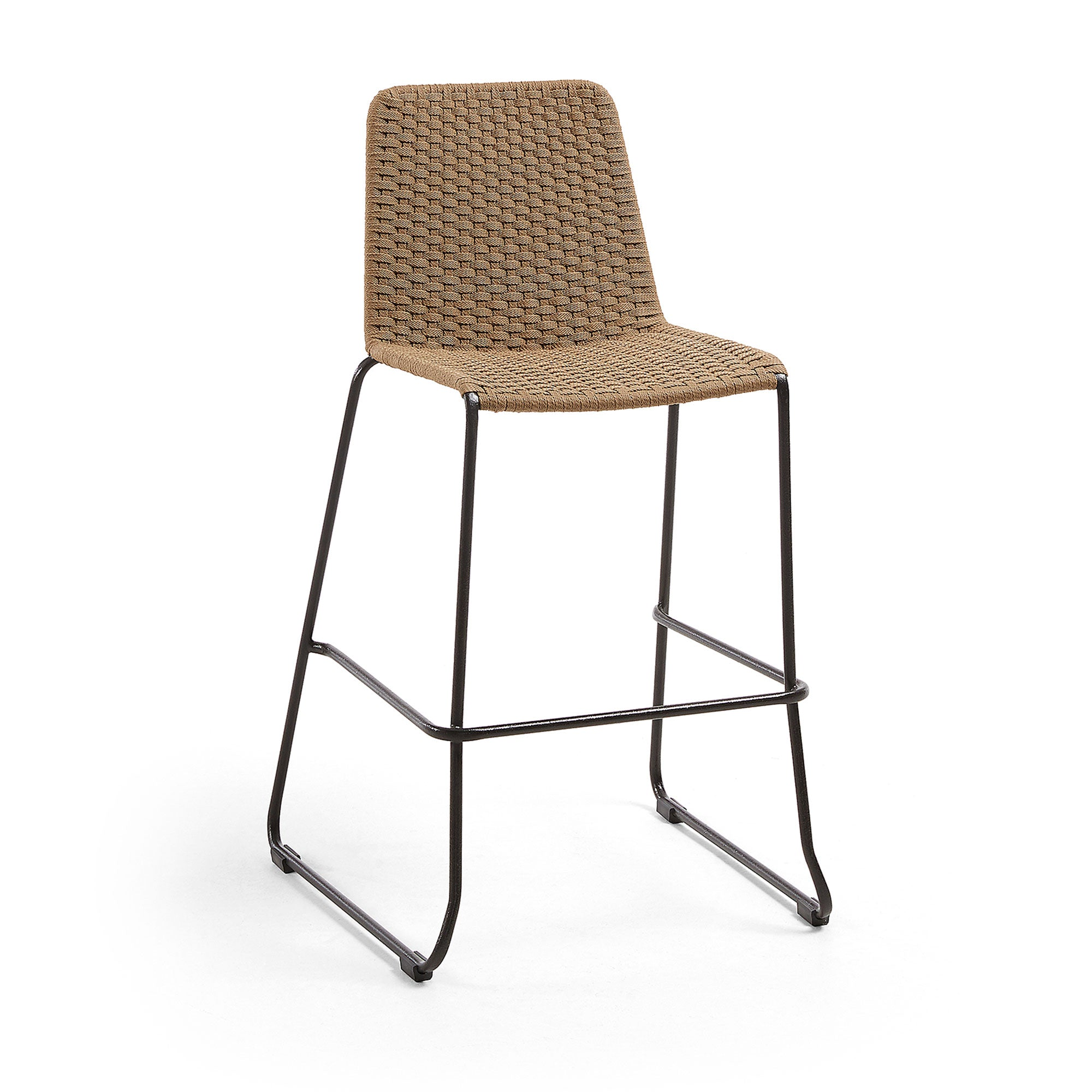 Meggie Patio Bar Height Barstool | Tan