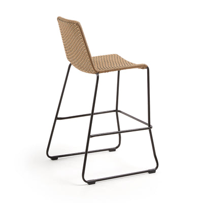 Moko Bar Height Patio Barstool | Tan