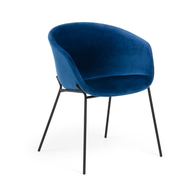 Modine Dining Chair | Royal Blue Velvet