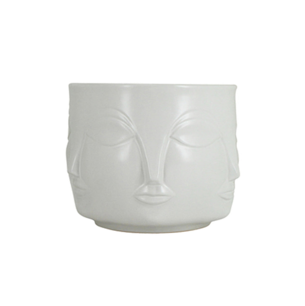 Mona Face Planter SML | White