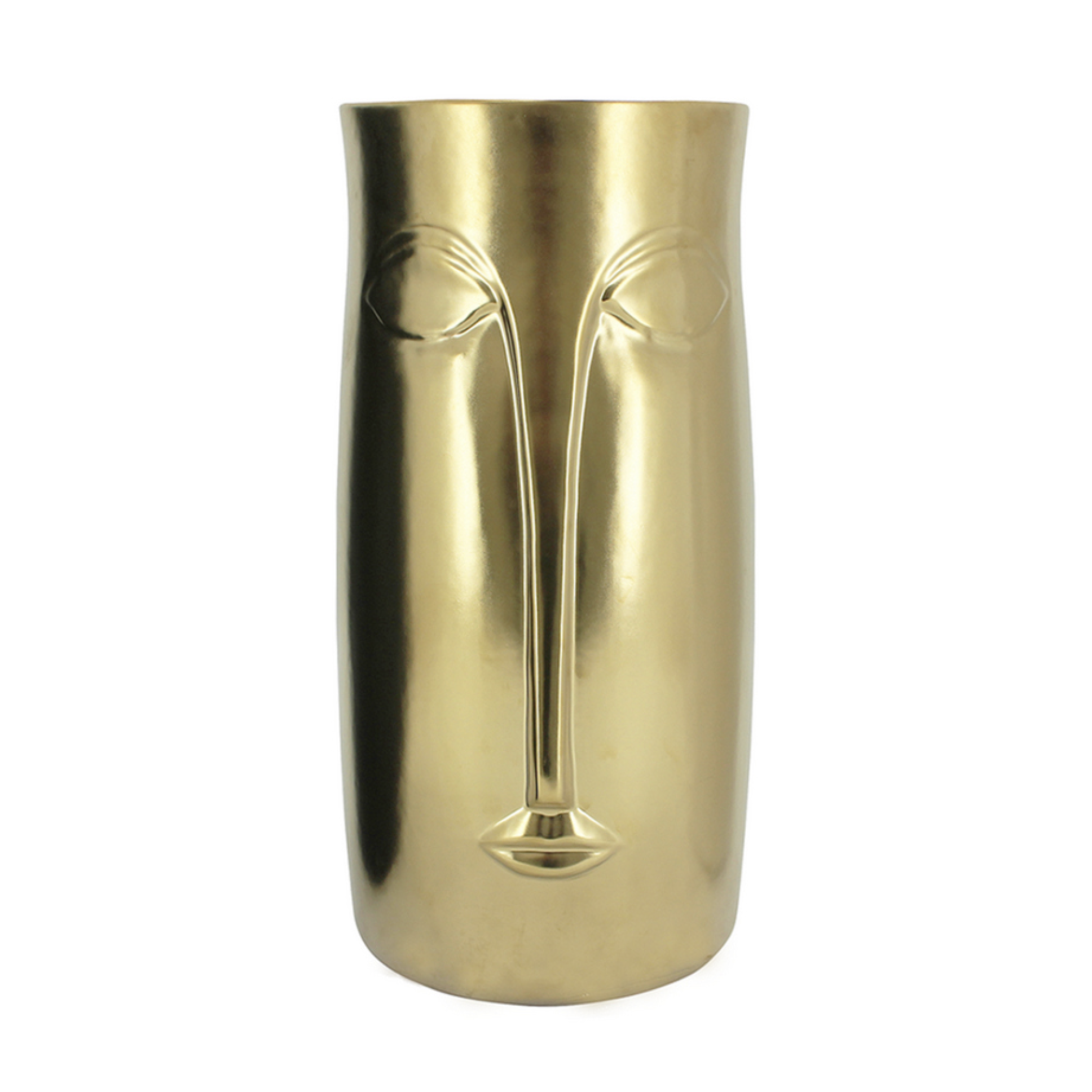 Mona Face Vase | Gold