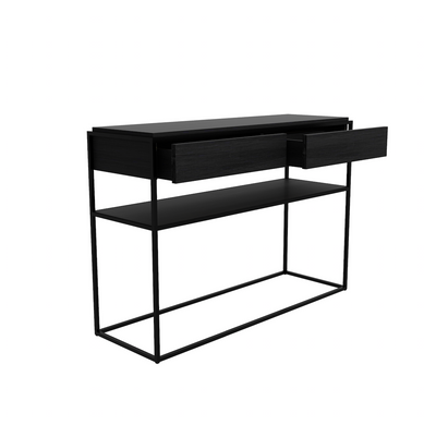 Monolit Console Table | Black Oak
