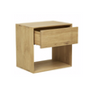 Nordic Bedside Table Tall | Oak