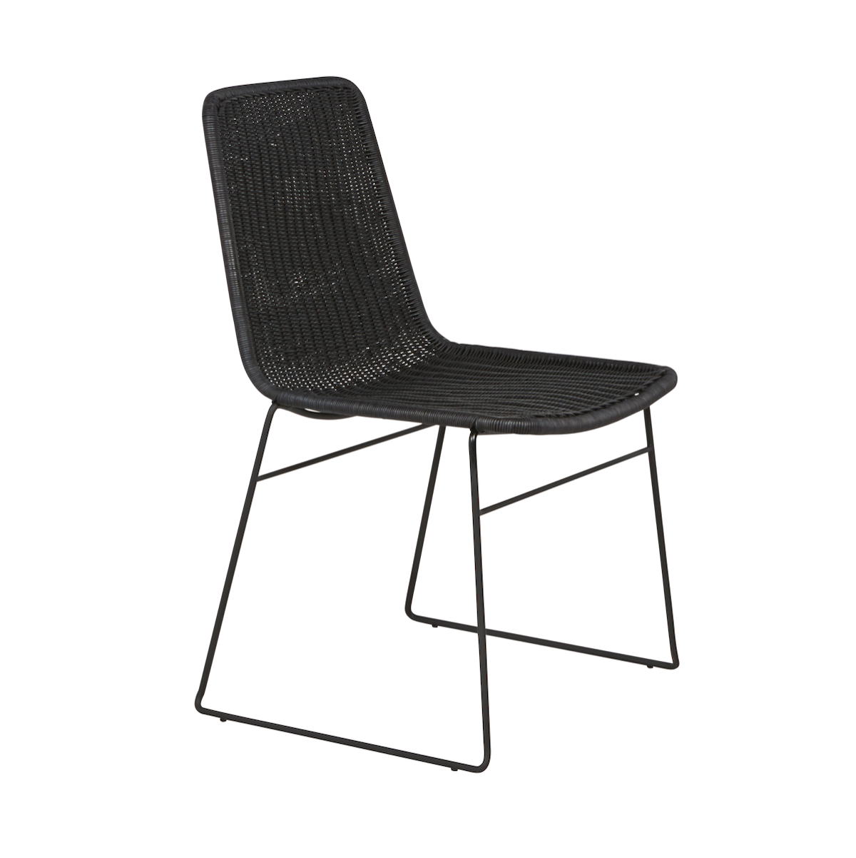 Olivia Dining Chair | Black Rattan