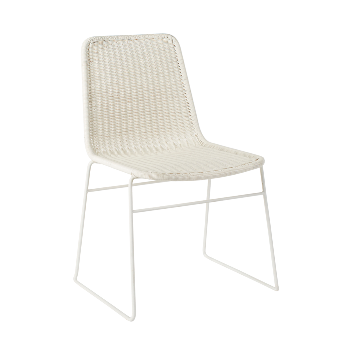 Olivia Dining Chair | White Rattan