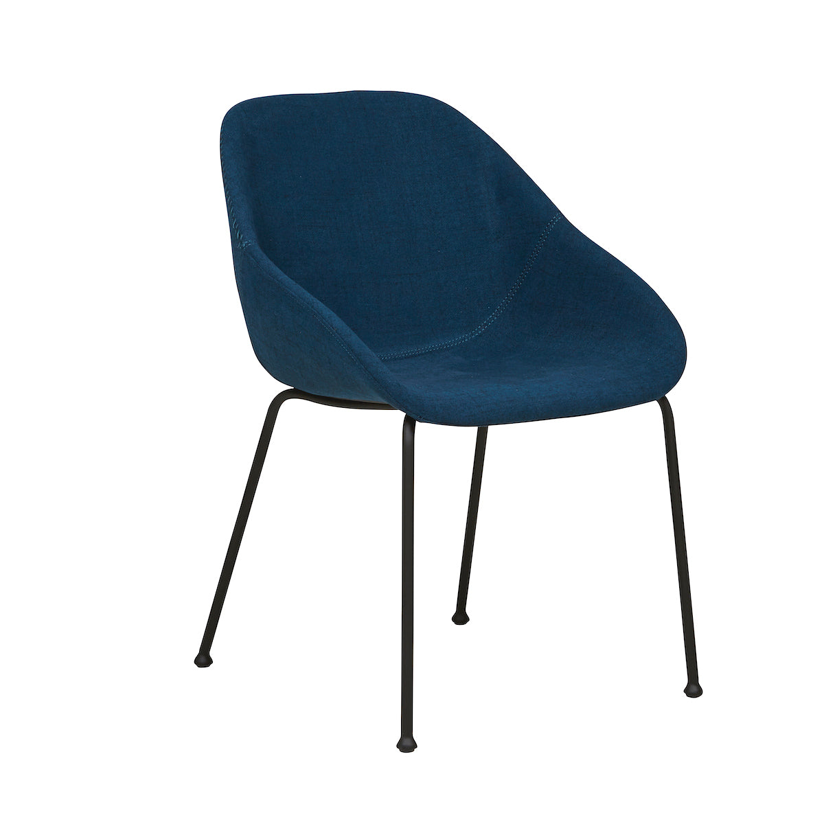 Ronald Dining Chair | Dark Blue