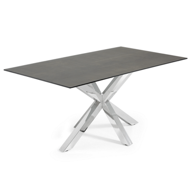 Iron Moss top/Brushed steel legs