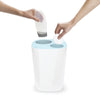 Split Bathroom Separation Rubbish Bin