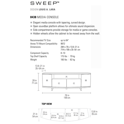 Sweep 8438 Entertainment Cabinet