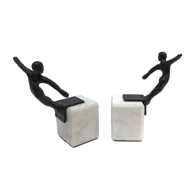 Thorpe Swimmer Bookend Set