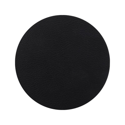 Togo Faux Leather Coaster Set | Black