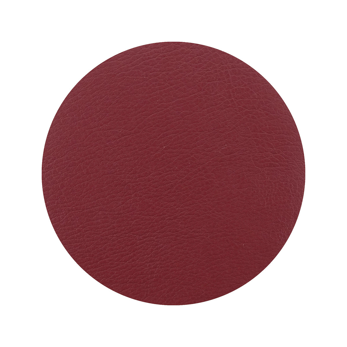 Togo Faux Leather Coaster Set | Red