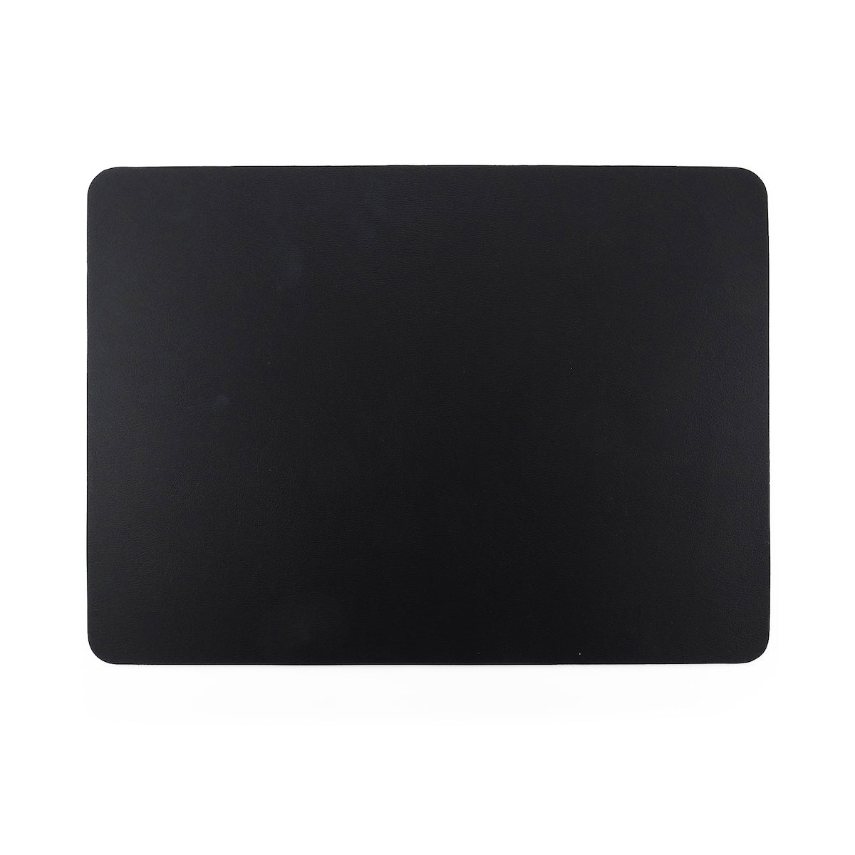 Togo Faux Leather Placemat | Black