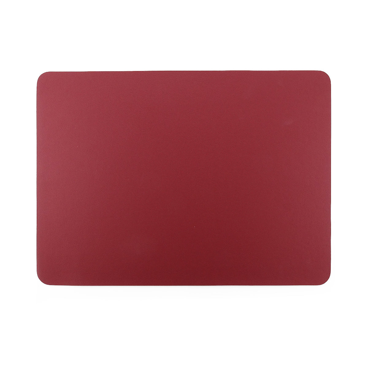 Togo Faux Leather Placemat | Red