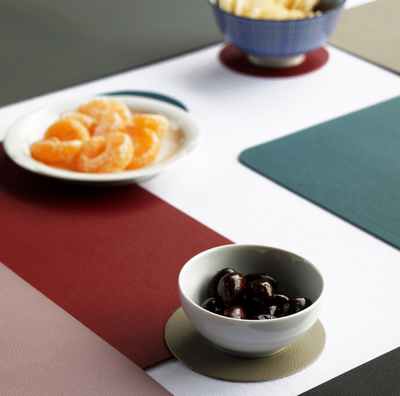 Togo Faux Leather Placemat | Brown