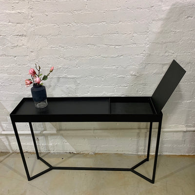 Tray Storage Console Table