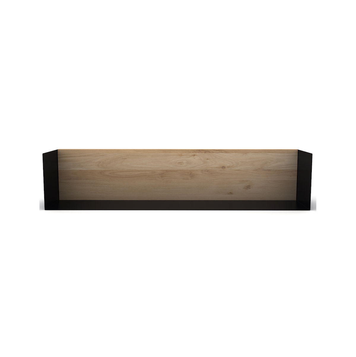 U Floating Bookshelf LRG | Oak