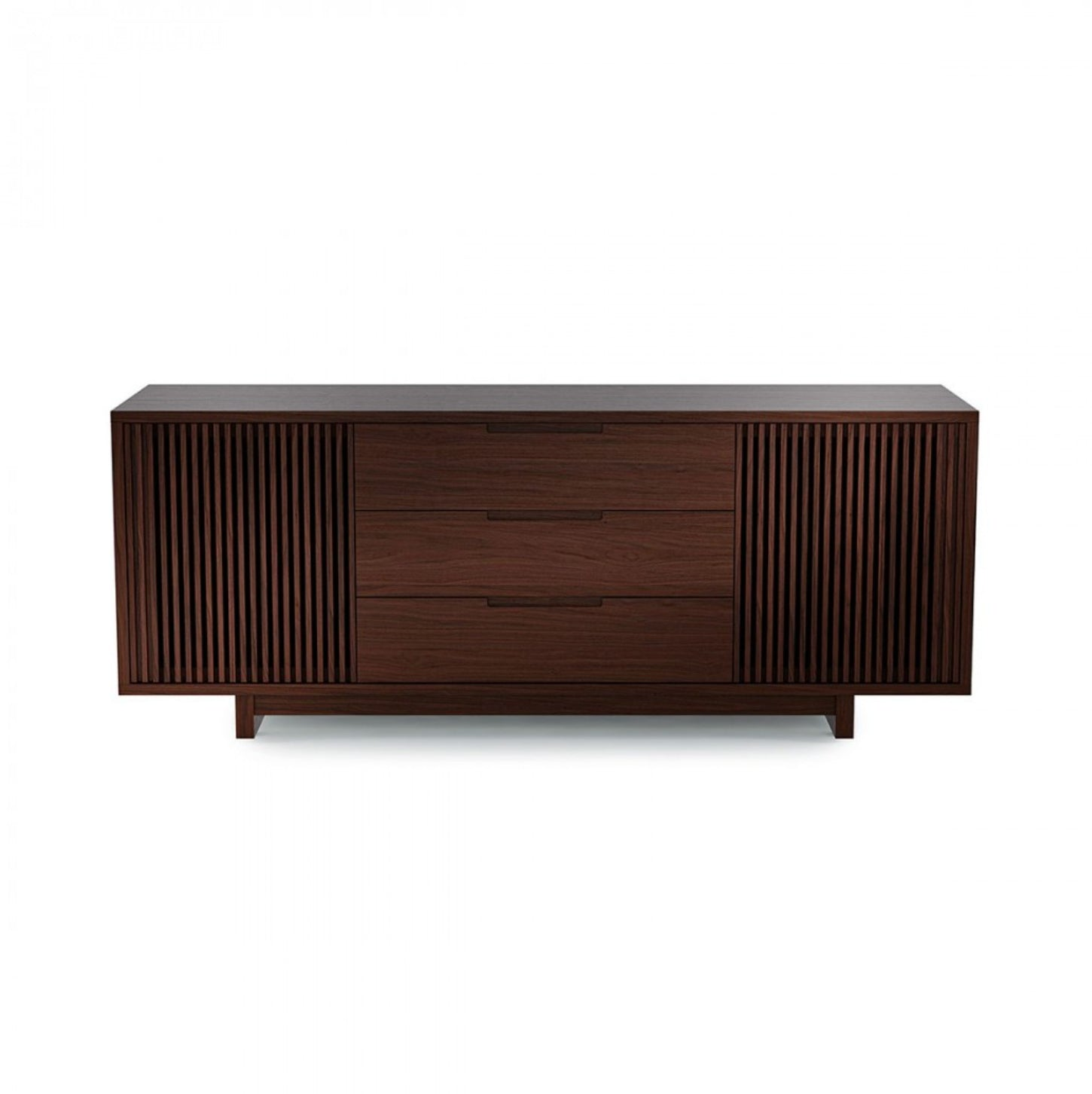 Vertica 8558 Tall Entertainment Cabinet | Chocolate Stained Walnut