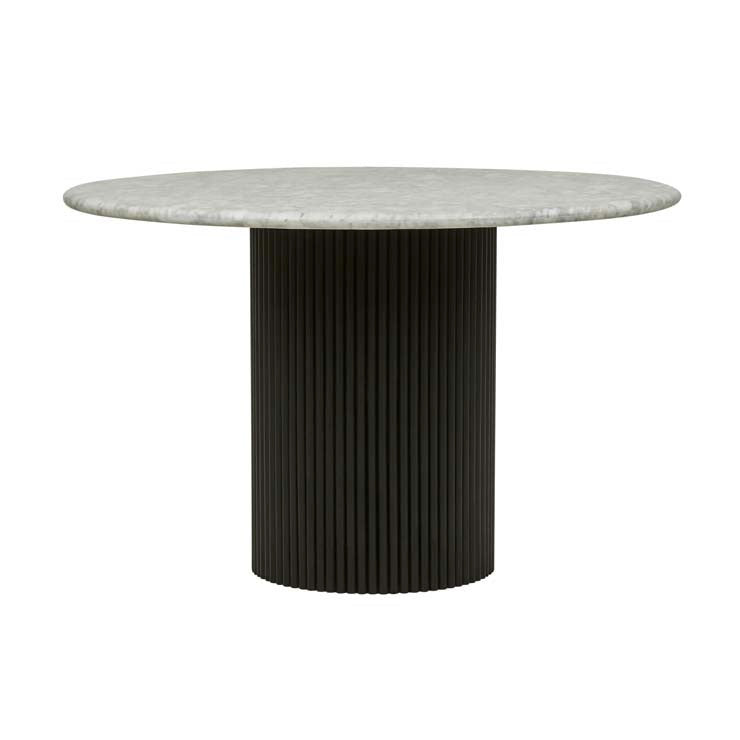 Benjamin Ripple Marble Dining Table | Matt Black