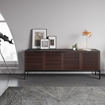 Corridor 7129SV Slim Entertainment Cabinet | Chocolate Stained Walnut