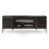 Corridor 7129SV Slim Entertainment Cabinet | Charcoal Stained Ash