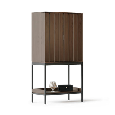 Cosmo 5720 Bar Cabinet | TOASTED WALNUT